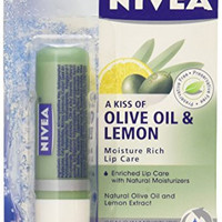 Nivea Lip Care, Moisture Rich, Olive Oil & Lemon (3 Pack)