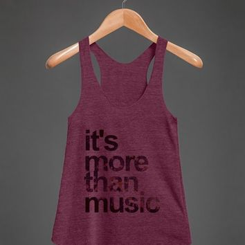 More Than Music Tank-Female Tri Cranberry Tank