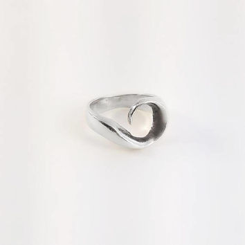 Sterling Swirl Ring Size 6.75 - Sterling Taxco Ring - Modernist Silver Ring - Minimalist Taxco Ring - Vintage Taxco Silver Swirl Ring