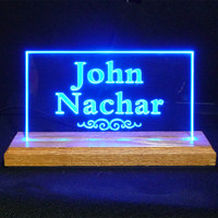 USB Powered LED Desk-Table Sign
