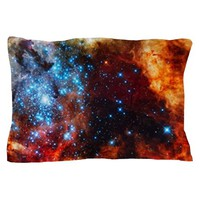 ORANGE NEBULA PILLOW CASE