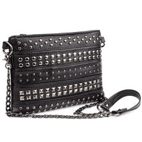 Stud Envelope Clutch Luxury Women Leather Handbags Punk Chain Hand Bag Small Cross Body Bag