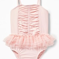 Ruched Tutu Swimsuit for Baby|old-navy