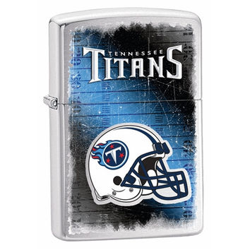 Zippo Tennessee Titans Brushed Chrome Lighter