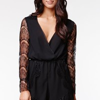 Reverse Femme Fatale Romper - Womens Dress - Black