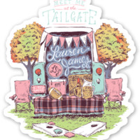 Lauren James Meet Me At The Tailgate Sticker