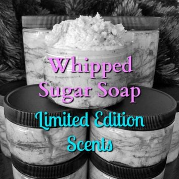 Sugar Whipped Soap w/ Shea Butter and Coconut - LE Scents