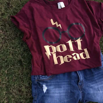 harry potter pott head shirt.
