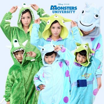 Free shipping Children Kids Monsters University Mike Wazowski /sulley Costume Onesuit Pyjamas Cosplay Spider-Man/Superman/Batman