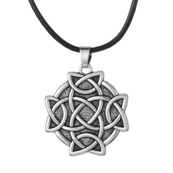Flower of Life Pendant Leather Chain Necklace Lobster Clasp Jewelry Men&Women
