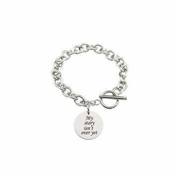 Solid Stainless Steel Inspirational Toggle Bracelet - My Story