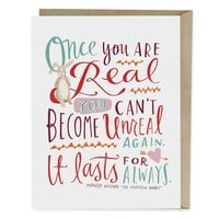 The Velveteen Rabbit Quote Card | Emily McDowell Studio