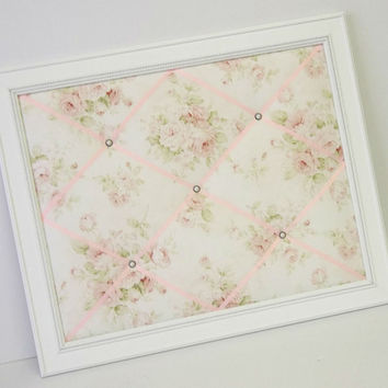Mary Rose Shabby Chic fabric Framed Memo Board