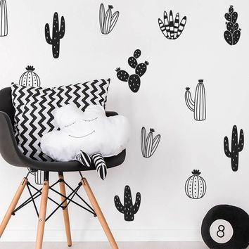 Unique! Cactus Woodland Tribal Wall Decals