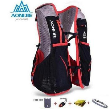 PEAPGC3 AONIJIE 5L Women Men Marathon Hydration Vest Pack For 1.5L Water Bag Cycling Hiking Bag Outdoor Sport Running Backpack