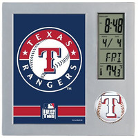 MLB Texas Rangers Digital Desk Clock
