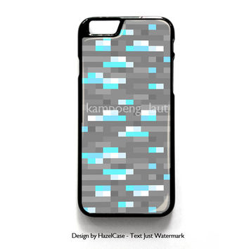 Minecraft Inspired Ore Diamond for iPhone 4 4S 5 5S 5C 6 6 Plus , iPod Touch 4 5  , Samsung Galaxy S3 S4 S5 Note 3 Note 4 , and HTC One X M7 M8 Case Cover