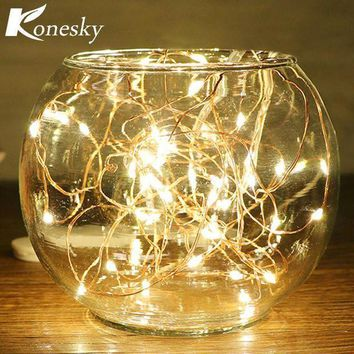 5m/16.4ft 50 Led Copper Wire String Light For Glass Craft Bottle Fairy Valentines Wedding Lamp Party Xmas Wedding Decoration