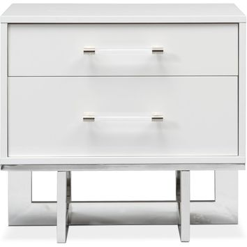 Concerto Nightstand - White