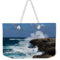 Lazy Fishing From The Rocks - No Fishermen Weekender Tote Bag