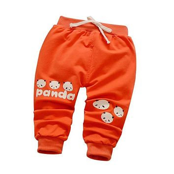 baby boys pants 2017 new spring/autumn 1 piece kids pants panada head pattern baby trousers casual pants children wit