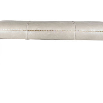 """Weston 48"""" Leather Bench, London Fog, Entryway Bench, Bedroom Bench"""