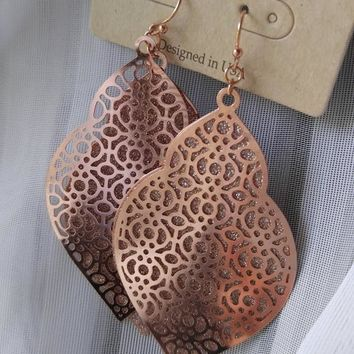 Arabesque Earrings - Rose Gold