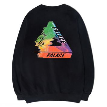 Unique Long Sleeve Black Palace Printed Sweatershirt Pullovers