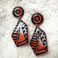 FASHION GEOMETRIC PATTERN EARRING