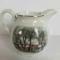 Avon Winter Cream Pitcher