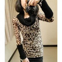Corean Fashion and Lovely Style Stack Collar Long Sleeves T-shirt For Woman/Girl China Wholesale - Sammydress.com