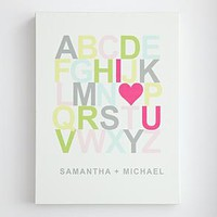 personalized i heart u alphabet wall art from RedEnvelope.com