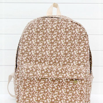 Canvas Brown Backpack = 4887670404