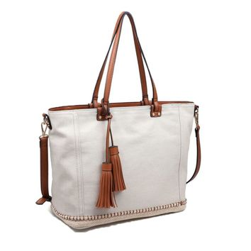 Ivory Santorini Large Tote Denim Handbag