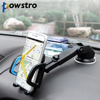 Retractable Long-Neck One-Touch Car Suction Cup Mount Mobile Phone Holder
