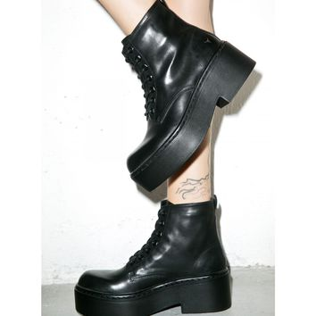 LAZERR LACE UP BOOTS