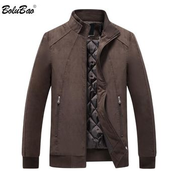 BOLUBAO Men's Jackets Coats 2018 Autumn Winter Brand Men Zipper Pocket Outerwears Slim Fit Male Bomber Jackets Coat