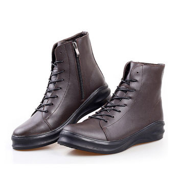 New 2016 Mens Winter Snow Boots High Quality Genuine Leather Warm Shoes Men Fashion Boots