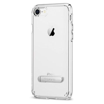 DCK4S2 Spigen Ultra Hybrid S [2nd Generation] iPhone 8 Case / iPhone 7 Case with Air Cushion Technology and Magnetic Metal Kickstand for Apple iPhone 8 (2017) / iPhone 7 (2016) - Crystal Clear