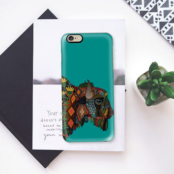 bison teal blue iPhone 6s case by Sharon Turner | Casetify