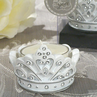 Opentip.com: Cassiani Collection 1645 Queen For A Day Sparkling Tiara Candle Holder