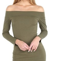 Gagaopt New Autumn Dress 95% Cotton Slash Neck Longsleeve Sexy Bandage Party Dress Bodycon Robes