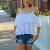 Easy Going Crop Top - White