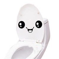 nice Cartoon Smiling Face Wall Bathroom Toilet Sticker Creative Home 3C02