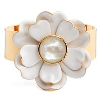 kate spade new york bright blossom flower cuff | Nordstrom