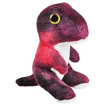 Wildlife Tree 3.5 Inch T-Rex Tyrannosaurus Rex Mini Small Stuffed Animals Bulk Bundle of Dinosaur Toys or Prehistoric Dino Party Favors for Kids Pack of 12
