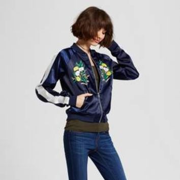 Women's Embroidered Bomber Jacket - R+J Couture
