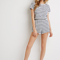 Heathered Stripe Romper