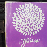 Purple Flower BeYOUtiful   Typography Wall Art by 13pumpkins