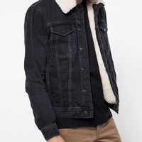 Topman Black Denim Western Jacket